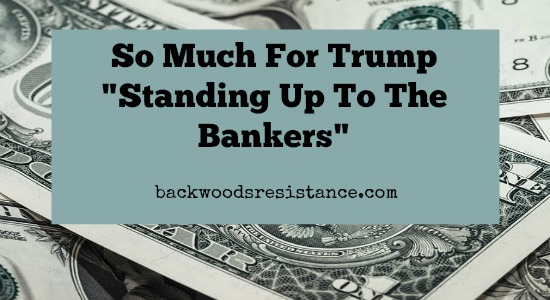 "So Much For Trump ""Standing Up To The Bankers"""